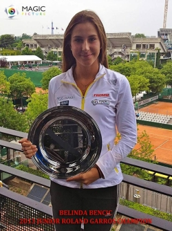Belinda Bencic mit French Open (Junior) - Titel